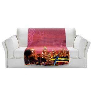 Artistic Sherpa Pile Blankets | Corina Bakke - Los Angeles Skyline