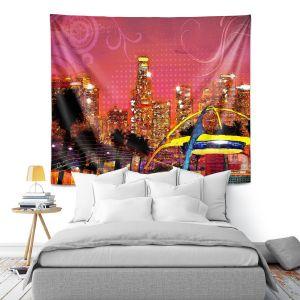 Artistic Wall Tapestry | Corina Bakke - Los Angeles Skyline