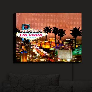 Nightlight Sconce Canvas Light   Corina Bakke's Las Vegas Skyline
