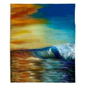 Artistic Sherpa Pile Blankets | Corina Bakke Maui Wave II