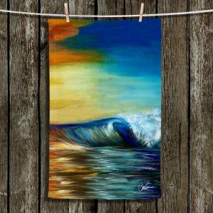 Unique Hanging Tea Towels | Corina Bakke - Maui Wave II | Ocean Waves