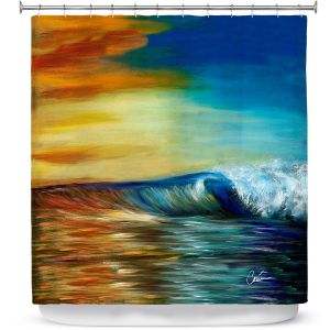 Premium Shower Curtains | Corina Bakke Maui Wave II