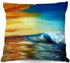 Unique Outdoor Pillow 18X18 from DiaNoche Designs by Corina Bakke - Maui Wave II