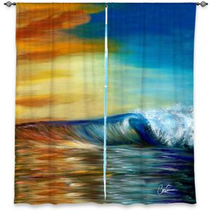 Unique Window Curtain Lined 40w x 82h from DiaNoche Designs by Corina Bakke - Maui Wave II