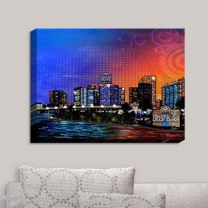 Decorative Canvas Wall Art   Corina Bakke - Miami Beach Skyline