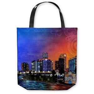 Unique Shoulder Bag Tote Bags   Corina Bakke Miami Beach Skyline