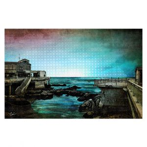 Decorative Floor Covering Mats | Corina Bakke - Monterey Bay | landscape digital coast water