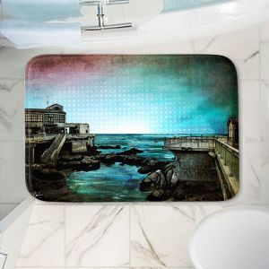 Decorative Bathroom Mats | Corina Bakke - Monterey Bay | landscape digital coast water