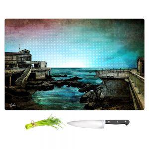Artistic Kitchen Bar Cutting Boards | Corina Bakke - Monterey Bay | landscape digital coast water