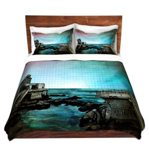 Artistic Duvet Covers and Shams Bedding | Corina Bakke - Monterey Bay | landscape digital coast water