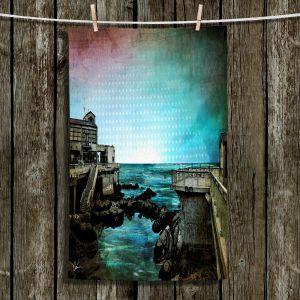 Unique Bathroom Towels | Corina Bakke - Monterey Bay | landscape digital coast water