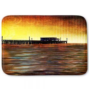 Decorative Bathroom Mats | Corina Bakke - Newport Beach | landscape digital pier water