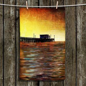 Unique Hanging Tea Towels | Corina Bakke - Newport Beach | landscape digital pier water