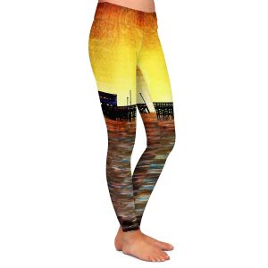 Casual Comfortable Leggings | Corina Bakke - Newport Beach | landscape digital pier water