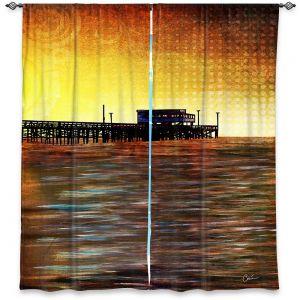 Decorative Window Treatments | Corina Bakke - Newport Beach | landscape digital pier water