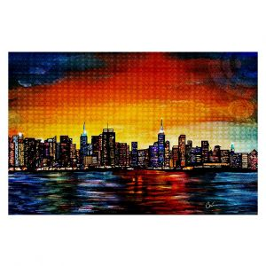 Unique Area Rug 2 x 3 Ft from DiaNoche Designs by Corina Bakke - New York Skyline
