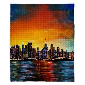 Artistic Sherpa Pile Blankets | Corina Bakke New York Skyline