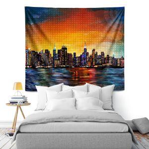 Artistic Wall Tapestry | Corina Bakke New York Skyline