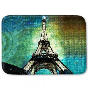 Decorative Bathroom Mats | Corina Bakke - Paris Eiffel Tower Night