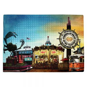 Decorative Kitchen Placemats 18x13 from DiaNoche Designs by Corina Bakke - San Francisco 1