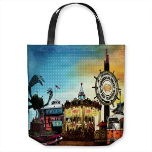 Unique Shoulder Bag Tote Bags | Corina Bakke - San Francisco 1 | landscape pier city
