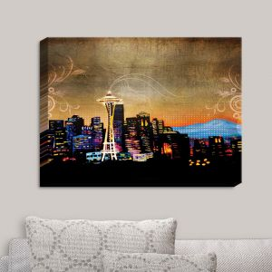 Decorative Canvas Wall Art   Corina Bakke - Seattle Skyline