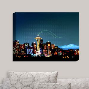 Decorative Canvas Wall Art   Corina Bakke - Seattle Skyline Sports 12th Man
