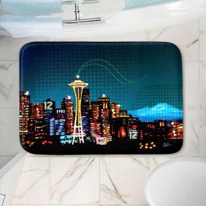 Decorative Bathroom Mats   Corina Bakke - Seattle Skyline Sports 12th Man