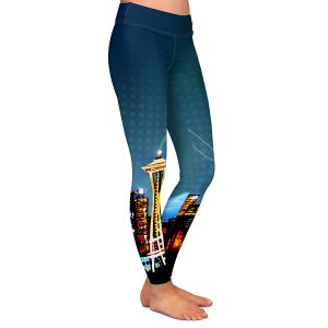 Casual Comfortable Leggings | Corina Bakke Seattle Skyline Sports