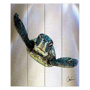 Decorative Wood Plank Wall Art   Corina Bakke - Sea Turtle I