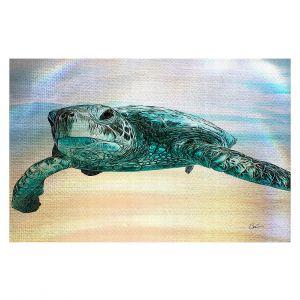 Decorative Floor Covering Mats | Corina Bakke - Sea Turtle 3 | water nature ocean