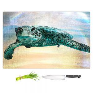 Artistic Kitchen Bar Cutting Boards   Corina Bakke - Sea Turtle 3   water nature ocean