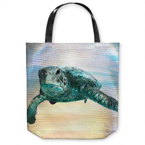 Unique Shoulder Bag Tote Bags   Corina Bakke - Sea Turtle 3   water nature ocean