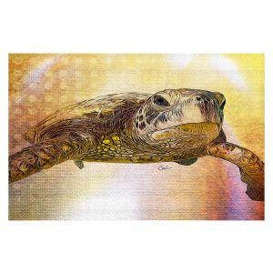 Decorative Floor Covering Mats | Corina Bakke - Sea Turtle 4 | water nature ocean