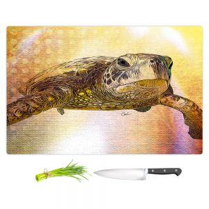 Artistic Kitchen Bar Cutting Boards   Corina Bakke - Sea Turtle 4   water nature ocean