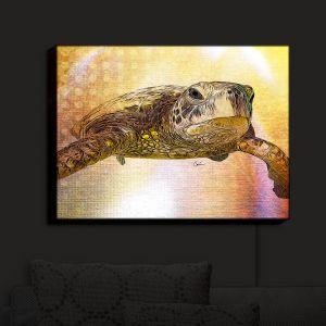 Nightlight Sconce Canvas Light   Corina Bakke - Sea Turtle 4   water nature ocean