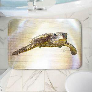 Decorative Bathroom Mats   Corina Bakke - Sea Turtle 6   water nature ocean