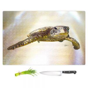 Artistic Kitchen Bar Cutting Boards   Corina Bakke - Sea Turtle 6   water nature ocean