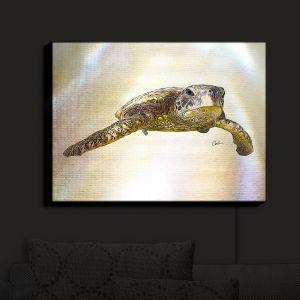Nightlight Sconce Canvas Light | Corina Bakke - Sea Turtle 6 | water nature ocean