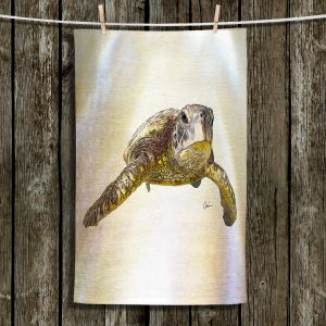 Unique Hanging Tea Towels | Corina Bakke - Sea Turtle 6 | water nature ocean