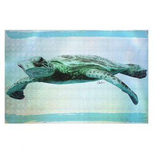 Decorative Floor Covering Mats | Corina Bakke - Sea Turtle 7 | water nature ocean