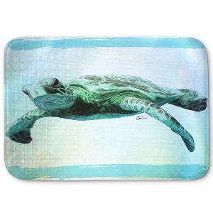Decorative Bathroom Mats | Corina Bakke - Sea Turtle 7 | water nature ocean