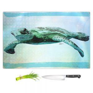 Artistic Kitchen Bar Cutting Boards   Corina Bakke - Sea Turtle 7   water nature ocean