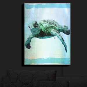 Nightlight Sconce Canvas Light | Corina Bakke - Sea Turtle 7 | water nature ocean