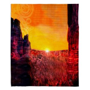 Decorative Fleece Throw Blankets | Corina Bakke - Sedona Arizona