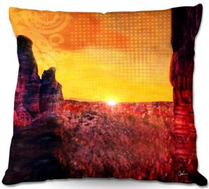 Decorative Outdoor Patio Pillow Cushion | Corina Bakke - Sedona Arizona