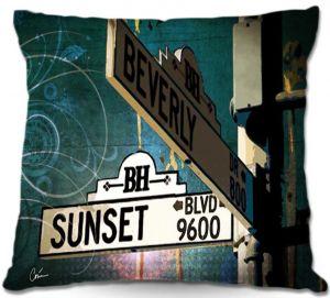 Throw Pillows Decorative Artistic | Corina Bakke Sunset Blvd