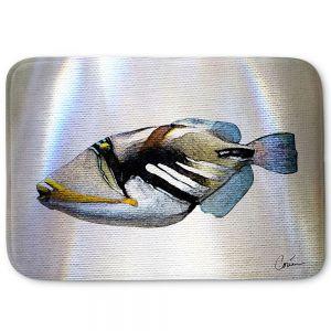 Decorative Bathroom Mats | Corina Bakke - Trigger Fish White