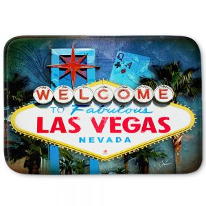 Decorative Bathroom Mats | Corina Bakke - Vegas Sign Blue