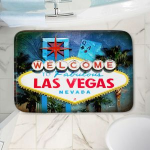 Decorative Bathroom Mats   Corina Bakke - Vegas Sign Blue
